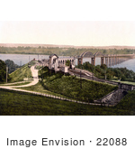 #22088 Stock Photography Of The Bridge Over The River Severn In Sharpness Gloucestershire England