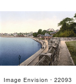 #22093 Stock Photography Of People Strolling The Promenade On The South Shore In Southampton