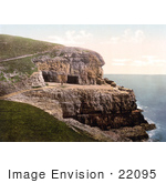 #22095 Stock Photography Of The Coastal Tilly Whim Caves In Durlston Swanage Dorset England Uk