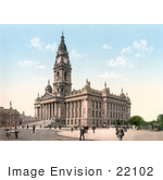 #22102 Stock Photography Of The Portsmouth Guildhall Or Town Hall In Portsmouth Hampshire England