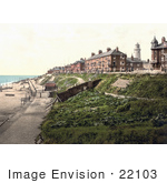 #22103 Stock Photography Of The Beach And Buildings Along The North Parade Promenade In Southwell Dorset England Uk