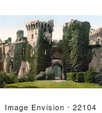 #22104 Stock Photography Of The Main Gatehouse To The Castell Rhaglan Raglan Castle In Monmouthshire Wales England Uk