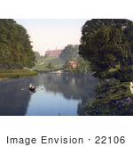 #22106 Stock Photography Of People Boating In The River Severn By The Shrewsbury School In Shrewsbury Shropshire England United Kingdom