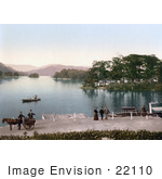 #22110 Historical Stock Photography Of Bowness-On-Windermere Windermere In South Lakeland Cumbria England United Kingdom