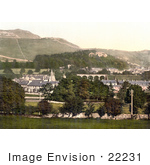 #22231 Historical Stock Photography Of The Village Of Settle Craven North Yorkshire England Uk