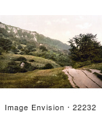 #22232 Historical Stock Photography Of The Landslip Undercliff Isle Of Wight England Uk