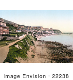 #22238 Historical Stock Photography Of The Promenade And Bay Of Ventnor Isle Of Wight England Uk