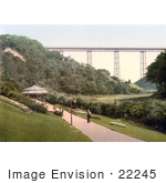 #22245 Historical Stock Photography Of The Path Through The Gardens Near The Viaduct In Saltburn-By-The-Sea Redcar And Cleveland North Yorkshire England Uk