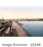 #22248 Historical Stock Photography Of The Ryde Esplanade Railway Station In Ryde Isle Of Wight England Uk