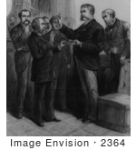 #2364 Justice John R Brady Administering The Oath Of Office To Vice President Arthur