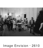 #2610 First Lady Betty Ford Santa Claus And Children