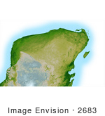 #2683 Picture Of The Yucatan Peninsula Of Mexico
