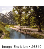 #26840 Stock Photography Of A Gated Dirt Road Along The River Lemon In Bradley Woods Newton Abbott Wiltshire England