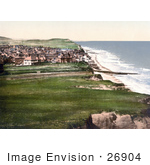 #26904 Stock Photography Of A View On The Coastal Town Of Sheringham As Seen From The East Cliff In Norfolk England Uk
