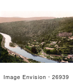 #26939 Stock Photography Of A View From The Symonds Yat Rock Of The Railroad Along The River Wye In Symonds Yat In The Forest Of Dean England
