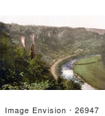 #26947 Stock Photography Of The Railroad Along The River Wye In Symonds Yat In The Forest Of Dean England