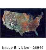 #26949 Stock Photography of a Map of the Contiguous United States of America and the Great Lakes by JVPD