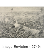 #27491 Illustration Of The Battle Of El Caney El Paso And Fortifications Of Santiago On July 1st 1898 During The Spanish-American War