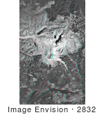 #2832 Mount St Helens Anaglyph