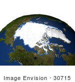 #30715 Stock Photo Of The Arctic Sea Ice Minimum For 1979 Showing The Ice Spanning Over The Sea