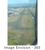 #365 Photograph Of An Airport Runway From Above
