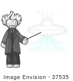 #37535 Clip Art Graphic Of A White Guy Character As Albert Einstein