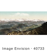 #40733 Stock Photo Of Hills And Snow Capped Rocky Mountains As Seen From Bellvue Colorado