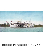 #40786 Stock Photo Of The Steamship New York Transporting Passengers Thousand Islands Ny