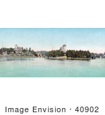 #40902 Stock Photo Of A View Of Hopewell Hall And Castle Rest Thousand Islands New York