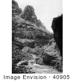 #40905 Stock Photo Of The Old Road Along Clear Creek Canyon In Colorado