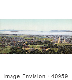 #40959 Stock Photo Of A View On San Francisco And The Golden Gate Straight As Seen From Berkeley Heights California
