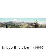 #40969 Stock Photo Of A Panoramic View Of Snow On The Mountains At Marshall Pass Colorado