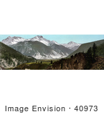 #40973 Stock Photo Of A View Of Snow On Sultan Mountain Of The San Juan Mountains In Colorado