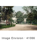 #41066 Stock Photo Of The Residential Street Western Boulevard In Detroit Michigan
