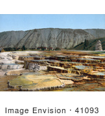 #41093 Stock Photo Of Hymen Terrace Mammoth Hot Springs At Yellowstone National Park Wyoming