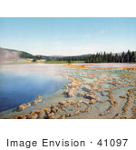 #41097 Stock Photo Of Blue Waters Of The Sapphire Pool In Biscuit Basin Yellowstone National Park Wyoming