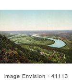 #41113 Stock Photo Of A View On Moccasin Bend From Lookout Mountain In Chattanooga Tennessee