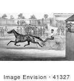#41327 Stock Illustration Of A Trotting Horse John Stewart On His Twentieth Mile September 22nd 1868