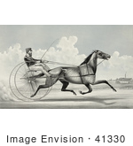 #41330 Stock Illustration Of C Champlin Driving The Trotting Horse Named George Palmer