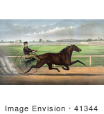 #41344 Stock Illustration Of J Bowen Trotting A Horse Named Joe Elliott At Mystic Park In Medford Massachusetts June 28th 1872