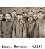 #42335 Stock Photo Of A Group Of Exhausted And Dirty Coal Miner Boys Posing For A Portrait In 1911