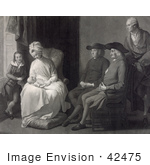 #42475 Royalty-Free (Rf) Stock Illustration Of The Family Of Benjamin West Admiring A Baby