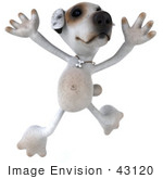 #43120 Royalty-Free (Rf) Clipart Illustration Of A 3d Jack Russell Terrier Dog Mascot Jumping
