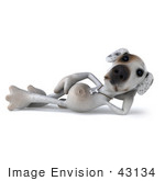 #43134 Royalty-Free (Rf) Clipart Illustration Of A 3d Jack Russell Terrier Dog Mascot Resting