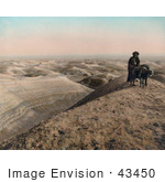 #43450 RF Stock Photo Of An Arab Man Standing With His Donkey Near The Dead Sea, Jordan, Israel by JVPD