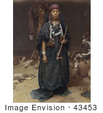 #43453 Rf Stock Photo Of A Bedouin Woman Holding A Pipe