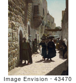 #43470 Rf Stock Photo Of People In An Alley Leading To The Church Of The Nativity Bethlehem