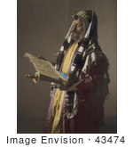 #43474 Rf Stock Photo Of A Jerusalem Rabbi Man Holding A Scroll And Phylacteries