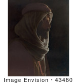 #43480 Rf Stock Photo Of A Bedouin Man In Profile