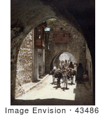 #43486 Rf Stock Photo Of A Street Scene With Arches In Old City Jerusalem Israel